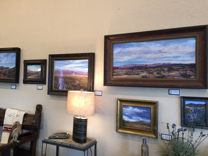 Lindy Cook Severns paintings at The Rusty Rabbit Alpine TX